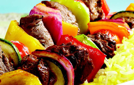 GRILLED BEEF & VEGETABLE KEBOBS