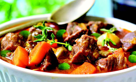 LAMB RAGOUT WITH BUTTERNUT SQUASH & PEAS